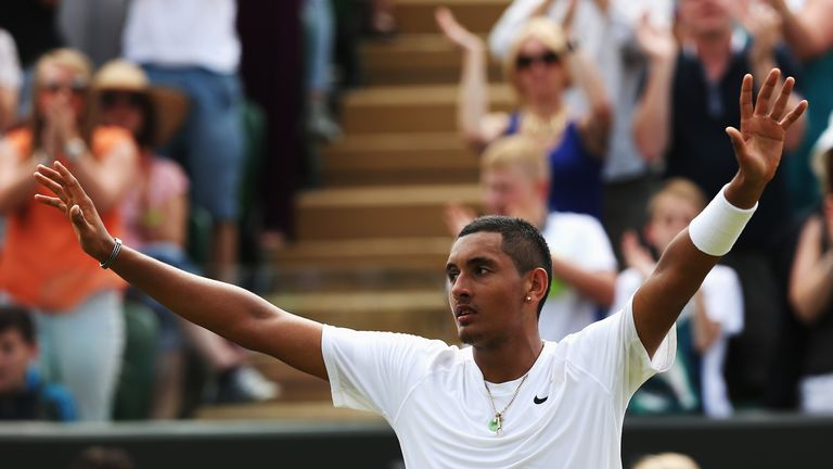 Australian star Kyrgios came from two sets down to upset 13th seed Gasquet