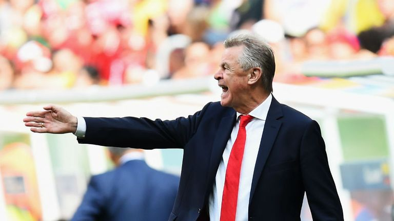 Ottmar Hitzfeld: Switzerland boss looks on against Ecuador