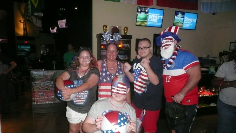 Stars and Stripes: fans getting behind the USA at this year's World Cup