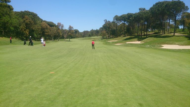 Our boys navigating another tough holes at PGA Catalunya