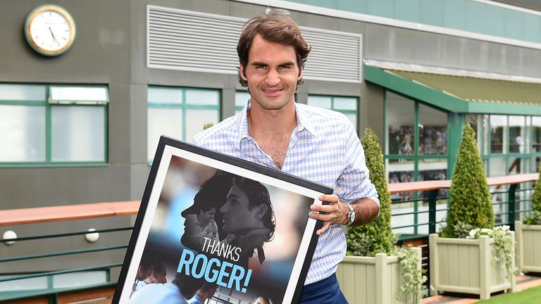 Roger Federer is delighted to be back at Wimbledon once again