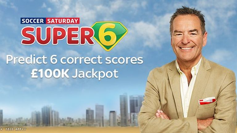 Super 6: A jackpot of £100,000 is on offer for anyone who can predict six correct scores