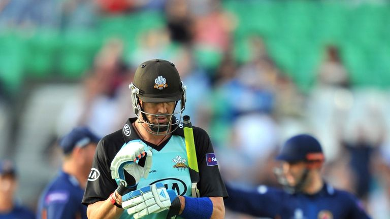 Surrey's Kevin Pietersen struggled to make an impact against Glamorgan during his side's win