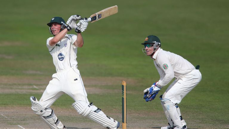 Tom Fell: Helped get Worcestershire out of trouble on day one at New Road