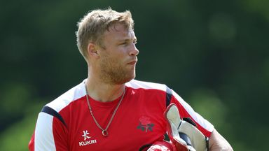 Andrew Flintoff: Could feature for Lancashire this evening