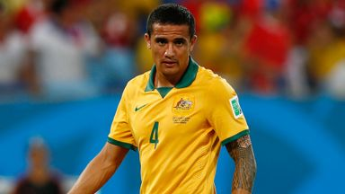 Tim Cahill has 103 caps and 50 goals for Australia