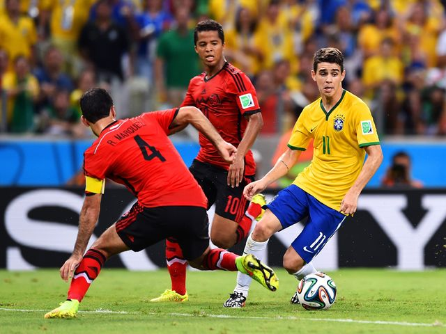 Oscar couldn't find a way through for Brazil