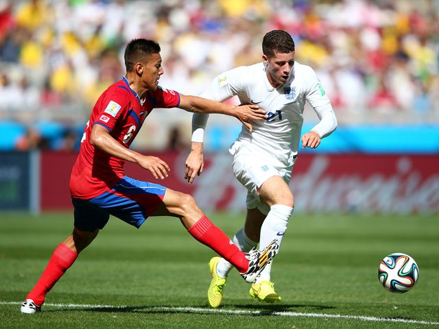 England's Ross Barkley had a bright game in the centre of midfield