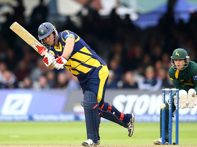 Jim Allenby: Finished on 96 not out for Glamorgan