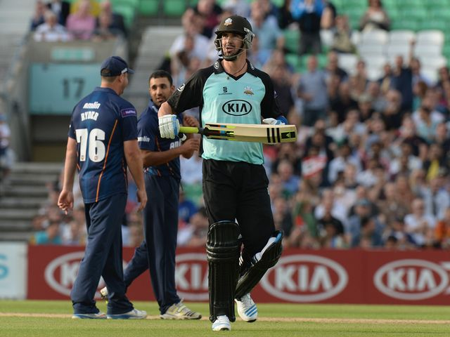 Kevin Pietersen: Perished for five at the Oval