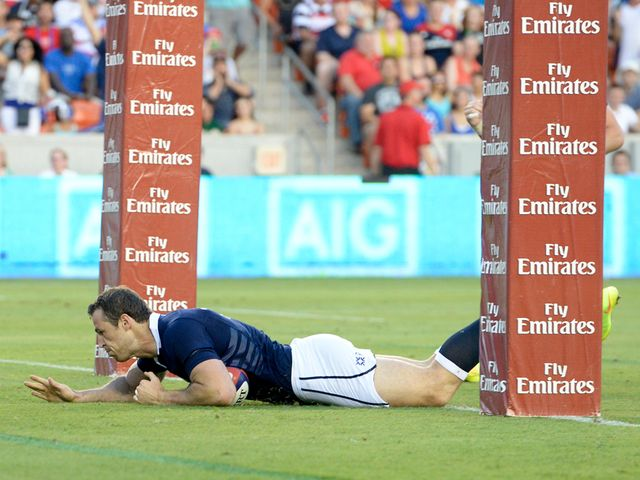 Tim Visser goes in for a Scotland try