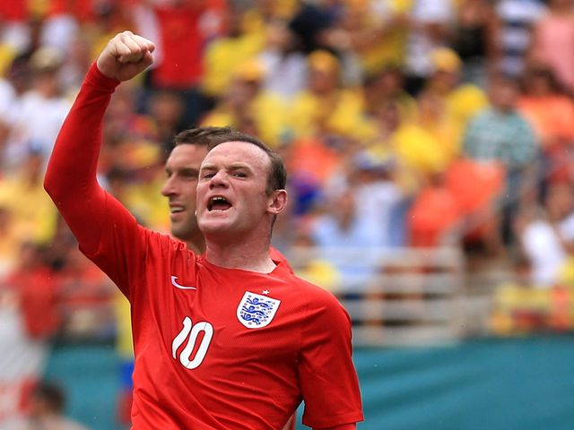 Wayne Rooney was on target for England