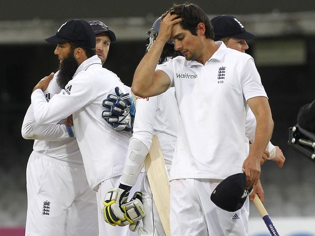 Cook saw his bowlers come so close to claiming a victory for England