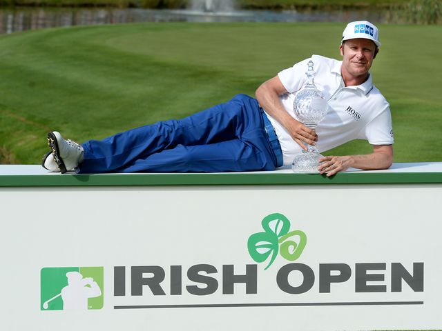 Mikko Ilonen relaxes after winning the Irish Open