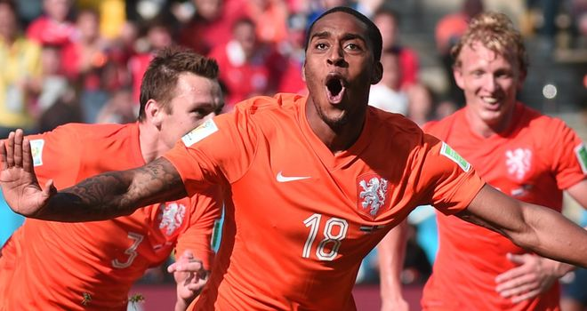 Leroy Fer: Celebrates opener for Dutch
