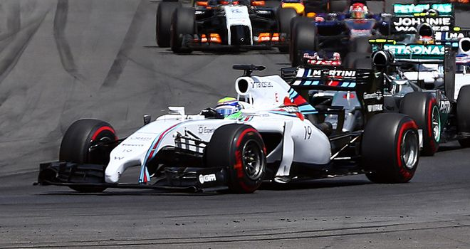 Felipe Massa: Harder on his rear tyres