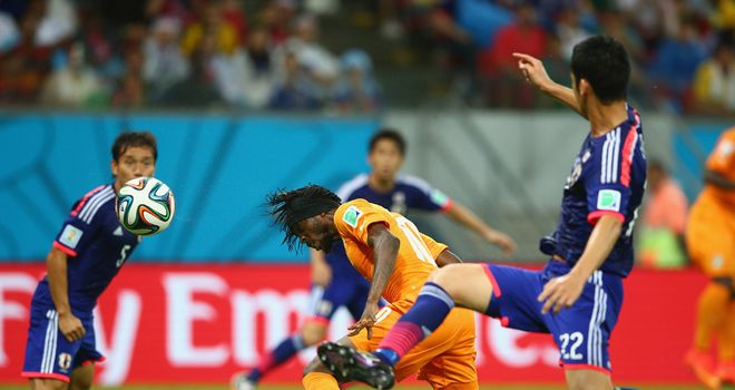 Gervinho scores Ivory Coast's winner