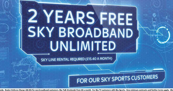 2 Years Free Sky Broadband Unlimited