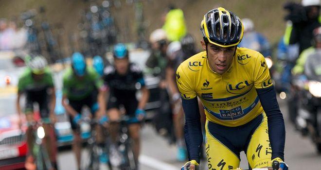 Alberto Contador on stage eight of the Criterium du Dauphine 2014