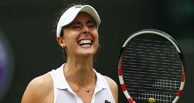Alize Cornet: Hopes to continue her winning run at SW19