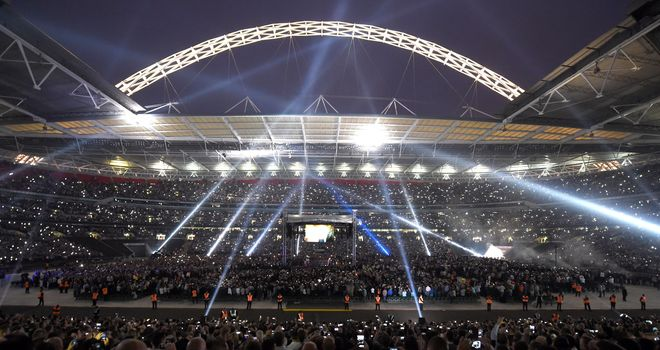 A general view of Wembley Stadium, London
