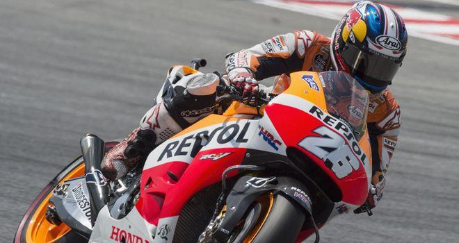 Dani Pedrosa claims pole in Barcelona