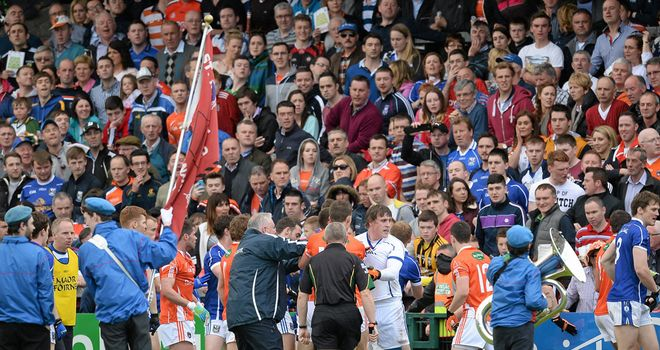 Armagh and Cavan were involved in a scuffle before Sunday's Ulster quarter-final at the Athletic Grounds