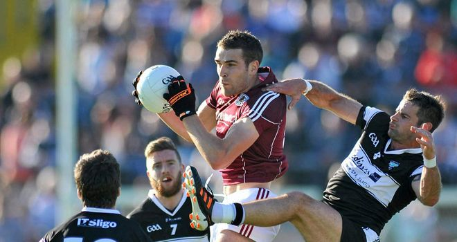 Fiontán Ó Curraoin: Dominated around midfield for Galway