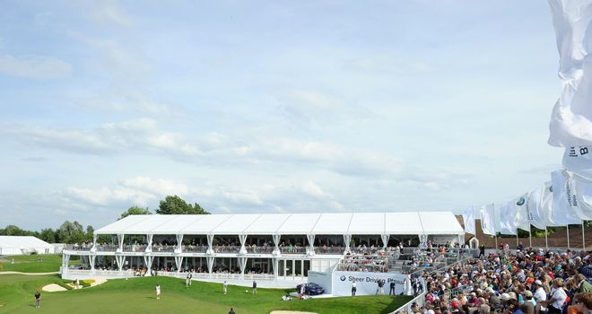 A general view of the 18th hole at Gut Larchenhof