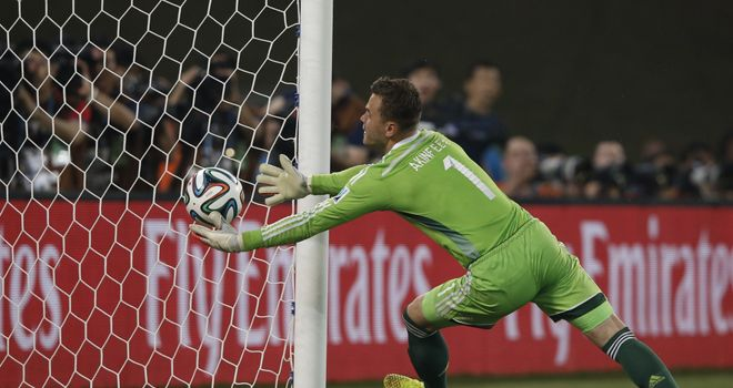 Russia's goalkeeper Igor Akinfeev fumbles the ball into his own net