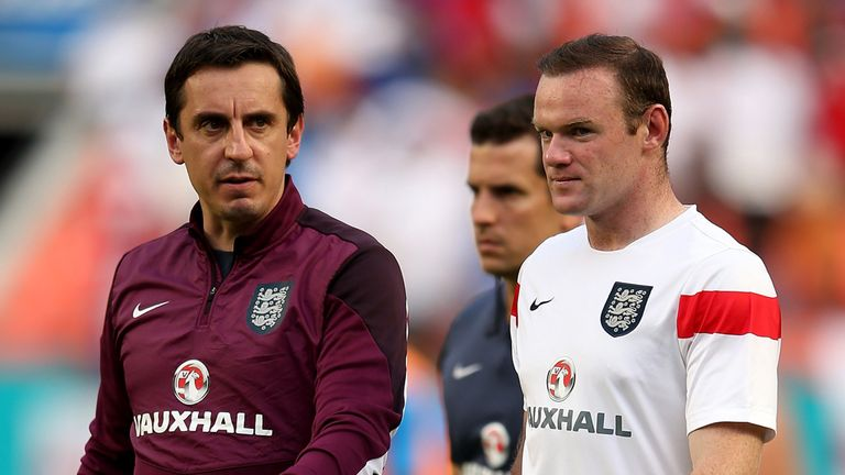 Gary Neville hopes Wayne Rooney stays at Manchester United