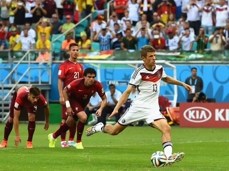 Thomas Muller: Hat-trick for Germany against Portugal