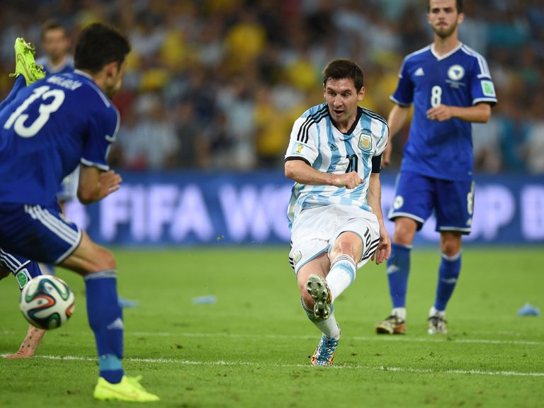 Lionel Messi fires home for Argentina against Bosnia