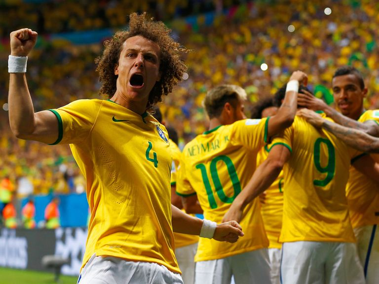 Brazil enjoy the 4-1 win over Cameroon