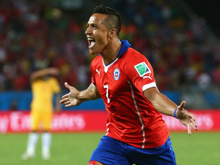 Alexis Sanchez: Impressed at the World Cup for Chile