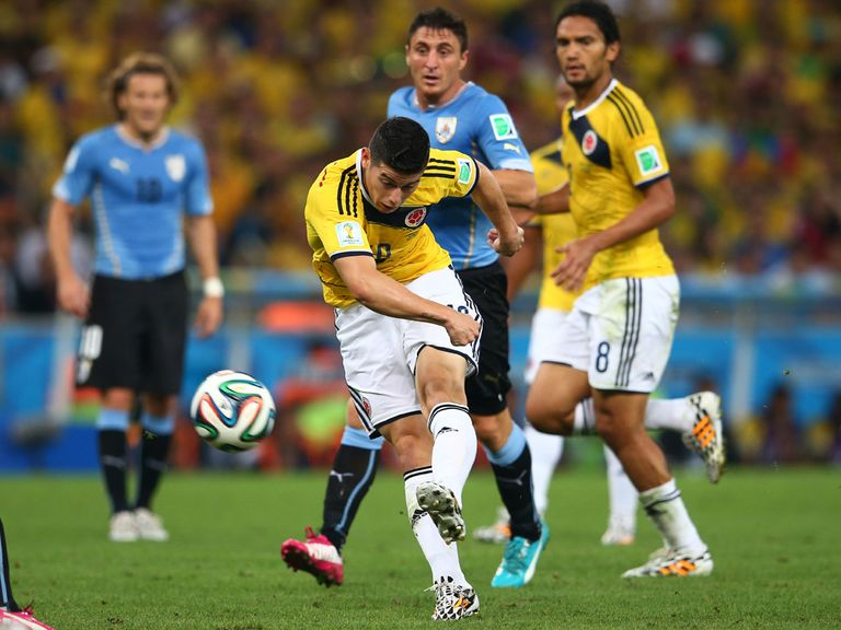 James Rodriguez: Scored a brilliant goal against Uruguay