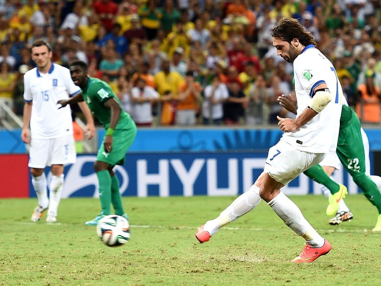 Georgios Samaras scores Greece's very late winner