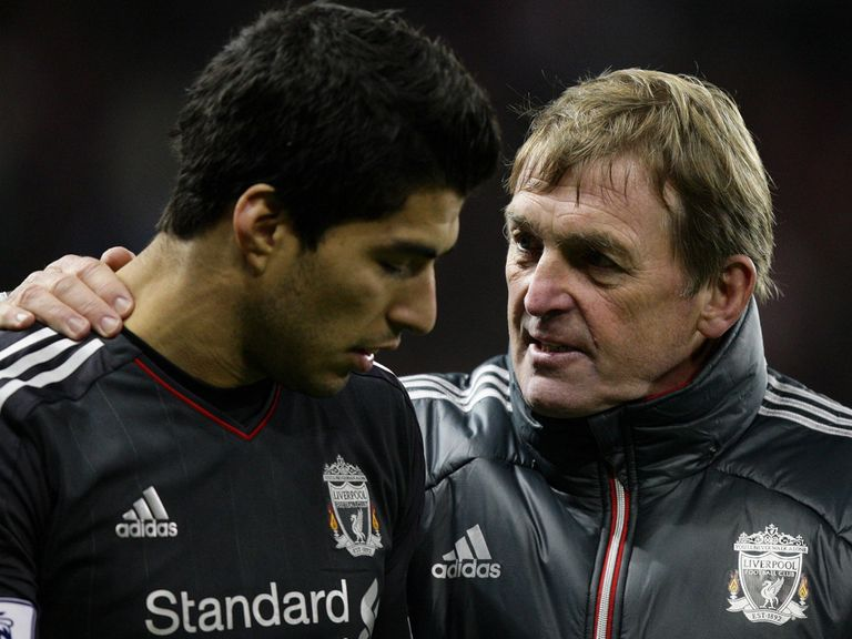 Kenny Dalglish (right): Pictured with Luis Suarez