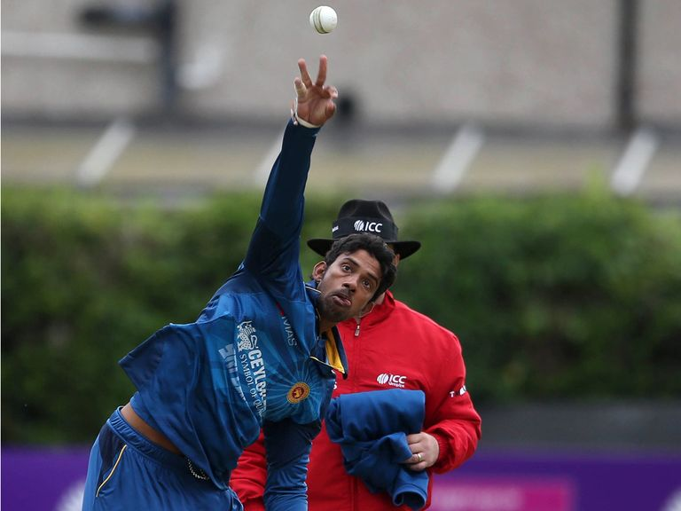 Sachithra Senanayake: Reported for a suspected illegal bowling action.