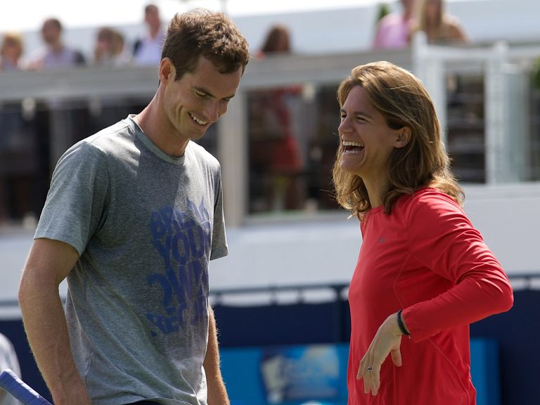 New partnership: Andy Murray and Amelie Mauresmo