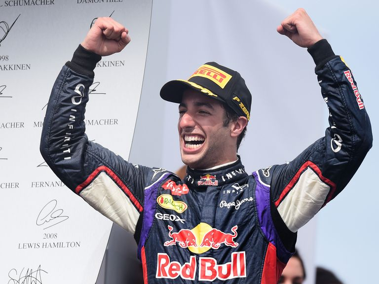 Ricciardo took the chequered flag in Montreal
