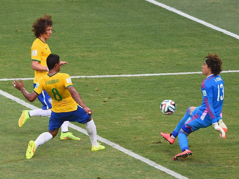 Guillermo Ochoa: Made a couple of fine saves against Brazil
