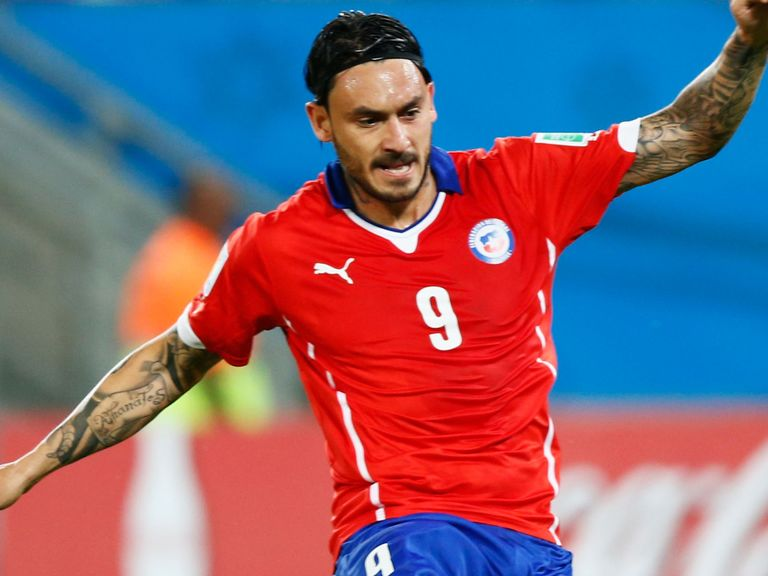 Mauricio Pinilla of Chile: Reportedly involved in a half-time scuffle