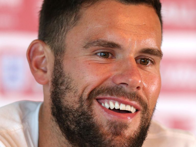 England's Ben Foster during the press conference