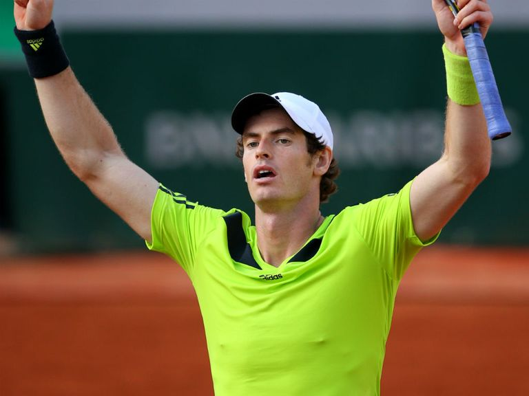 Andy Murray celebrates beating Fernando Verdasco