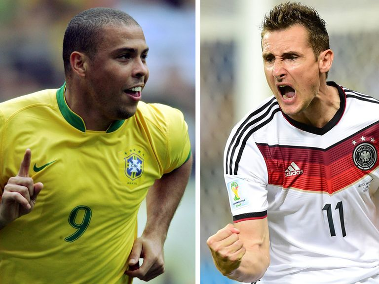 Ronaldo and Klose are now tied for the record