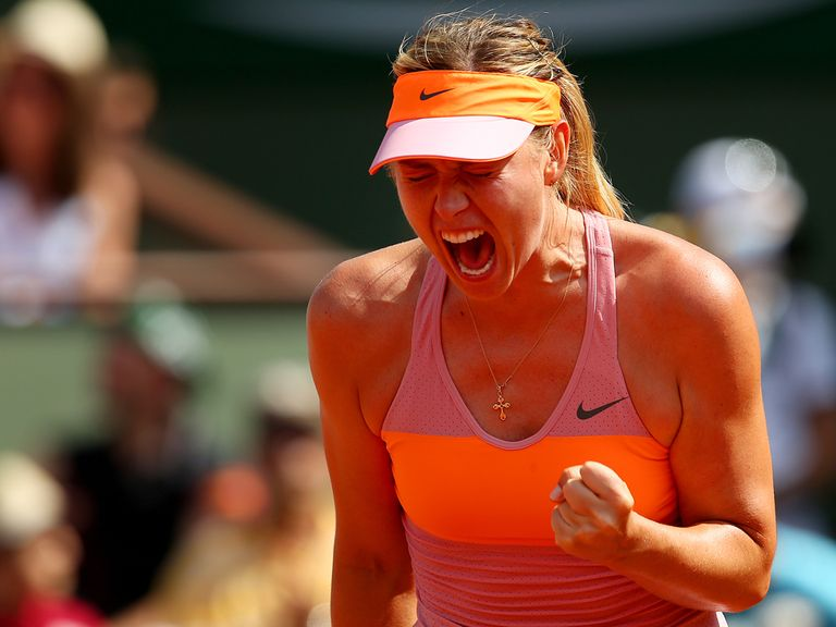 Sharapova made it two titles in Paris in three years