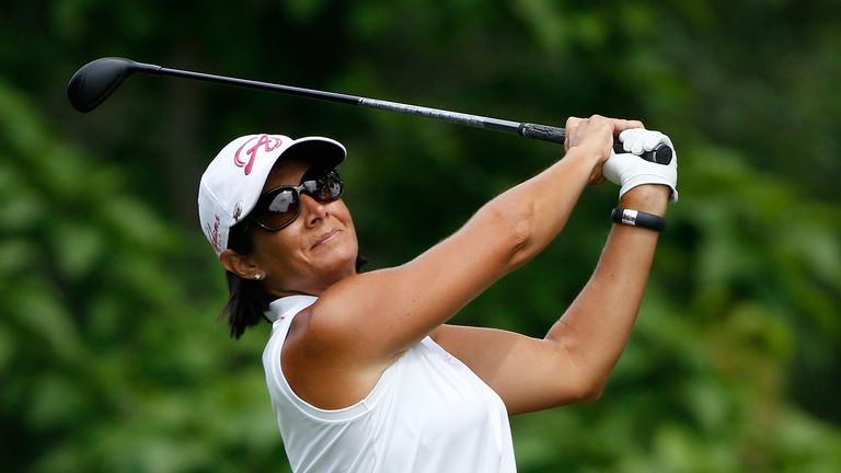 Laura Diaz: Takes a three-shot lead into Saturday's third round
