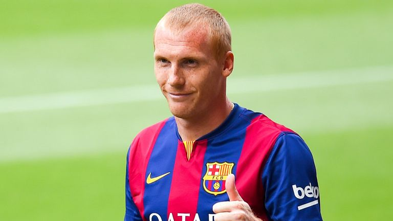Jeremy Mathieu: Has trained with Barcelona at St George's Park this week