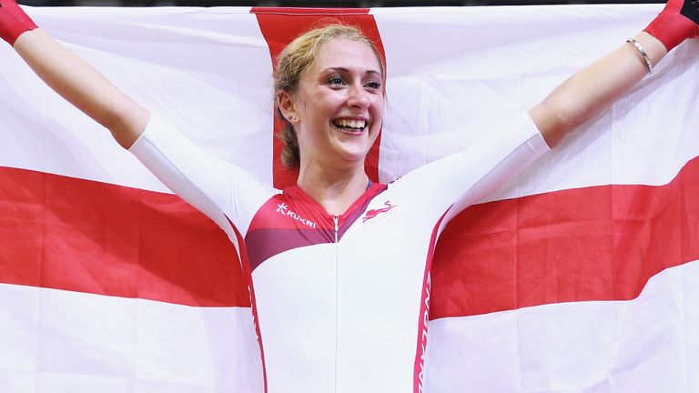 Laura Trott: Won the points race on count-back after finishing level on points with Elinor Barker